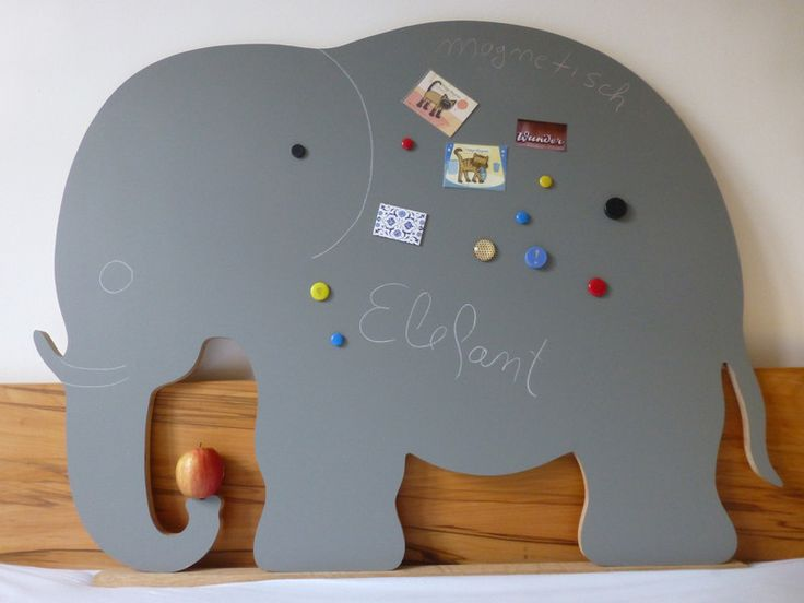Holzspielzeug - Magnetische Kreidetafel Baby Elefant Originalgröße - ein Designerstück von eichholzmanufaktur bei DaWanda