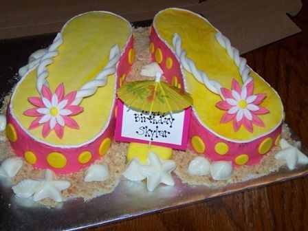 flip flop cake - Google Search