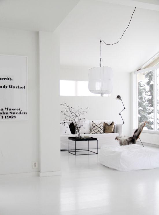 White floors + black detailing | living space elisabeth heier