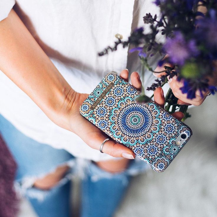 Moroccan Zellige by lovely @betweenricefields - Fashion case phone cases iphone inspiration iDeal of Sweden #Mosaic #blue #fashion #inspo #iphone #pattern #tile #summer #Marrakech