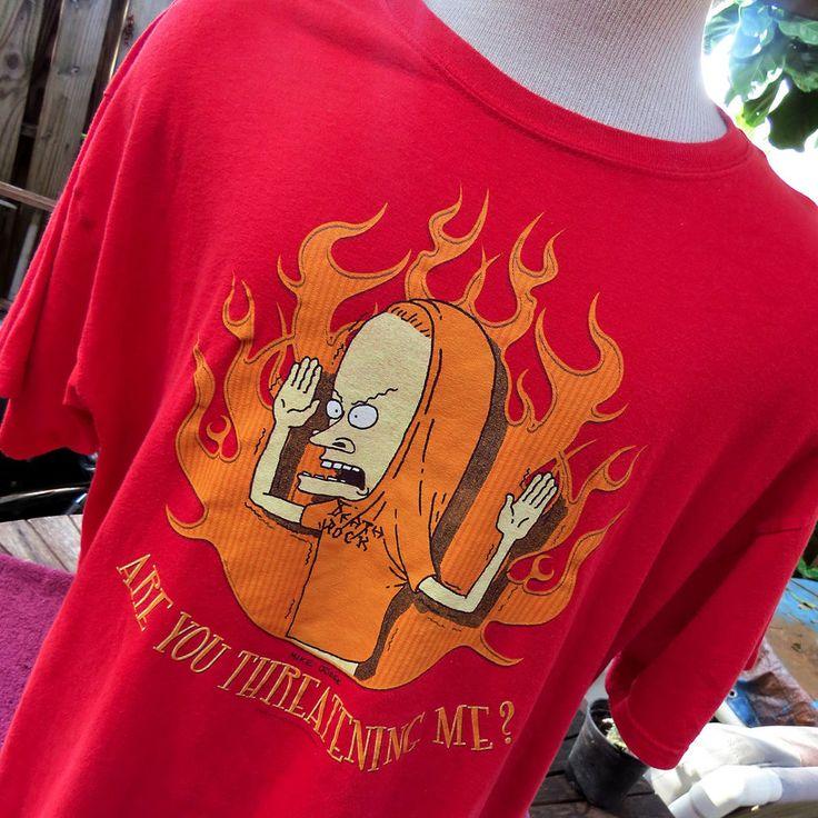 Beavis & Butthead Great Cornholio Are You Threatening Me Shirt XL MTV Mike Judge #Gildan #GraphicTee