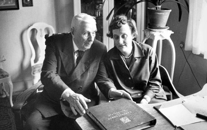 Astrid Lindgren with her father.