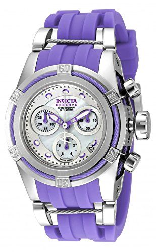 New Womens Invicta 18685 Bolt Reserve Zeus Purple Rubber Strap Watch * Click image for more details.