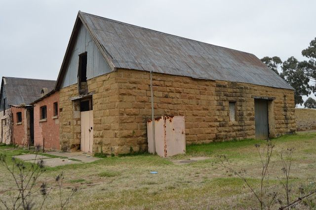 Sandstone shed on a farm