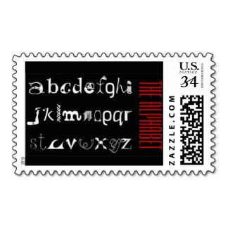 The Latin Alphabet, Black White Red  Postage #Stamps