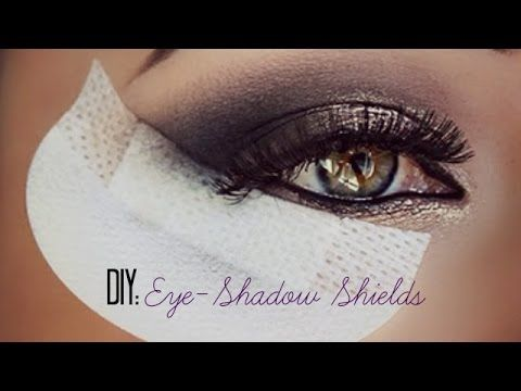 DIY : Eye-Shadow Shields (for makeup application) #shadowshields #diy