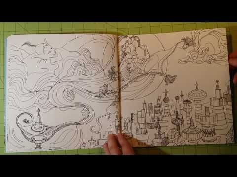 The Kingdom Of Fairy Tales Adult Coloring Book Review Flip Through