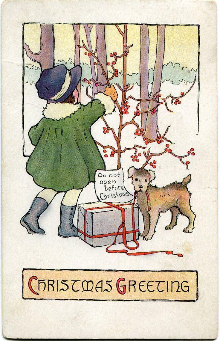 358 best christmas children cards ephemera images on pinterest a vintage christmas postcard kristyandbryce Choice Image