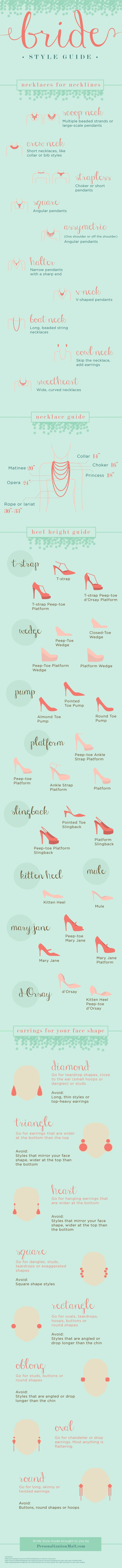 Check out this awesome bridal accessory guide that helps you find the perfect jewelry and shoes for your Wedding Day! http://www.stelladot.com/paolaking http://www.adlero.com