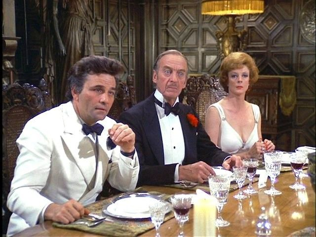 """Peter Falk, David Niven, Maggie Smith, """"Murder by Death"""""""