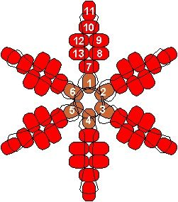 Bead Snowflake Diagram