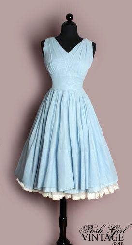 Adorable, flouncy dress with a false petticoat for a vintage look.