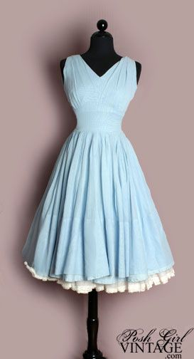 Adorable, flouncy dress with a false petticoat for a vintage look.