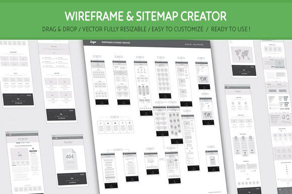 Wireframe and Sitemap Creator by Sargatal 2 on @creativemarket