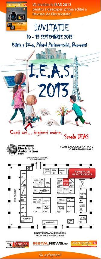 Tehnica Instalatiilor si Revista de Electricitate va invita la IEAS 2013!