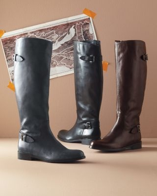 Gabriella Leather Riding Boots: Boots Gabriella, Style, Tall Boots, Black Leather Boots, Garnet Hill, Shoes Boots, Gabriella Leather, Leather Riding Boots, Boots Garnet
