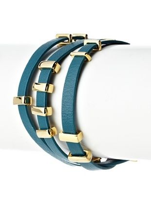 54% OFF Jules Smith Leather and Metal Wrap Bracelet
