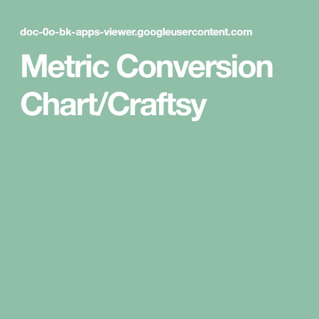 metric and imperial conversion charts and tables pdf
