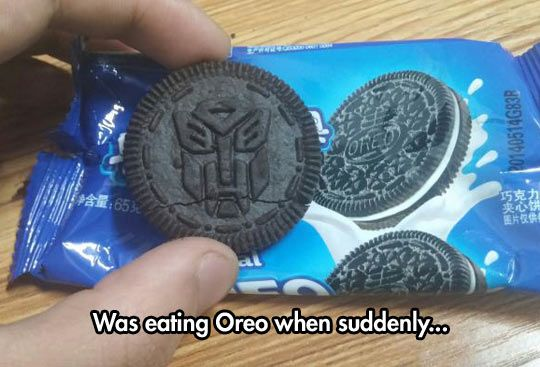 Transformers, Oreos In Disguise                                                                                                                                                                                 More