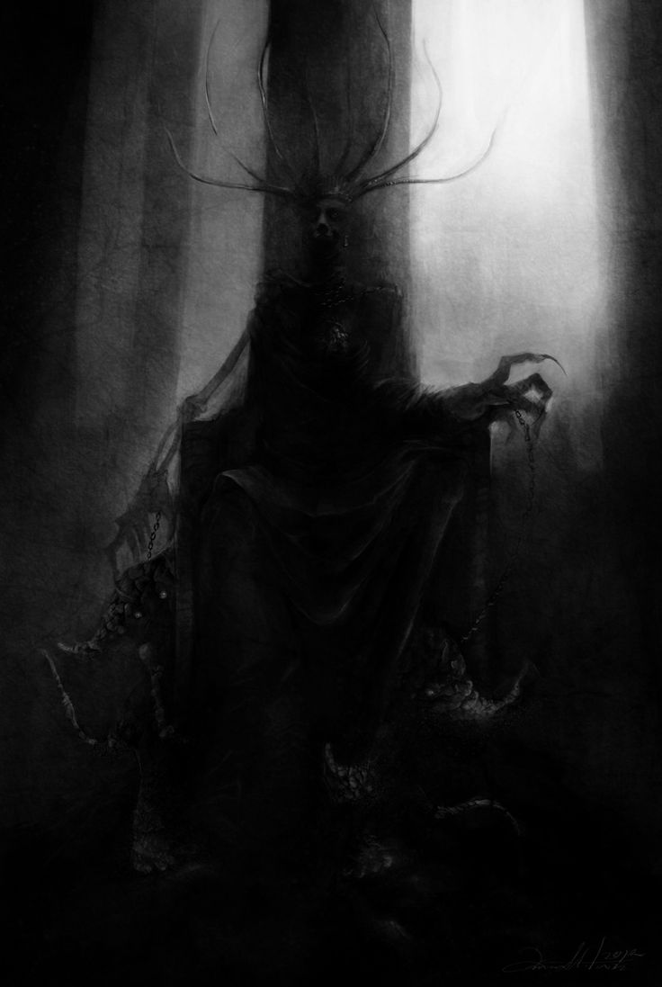 Dark Figure In Dark Forest.