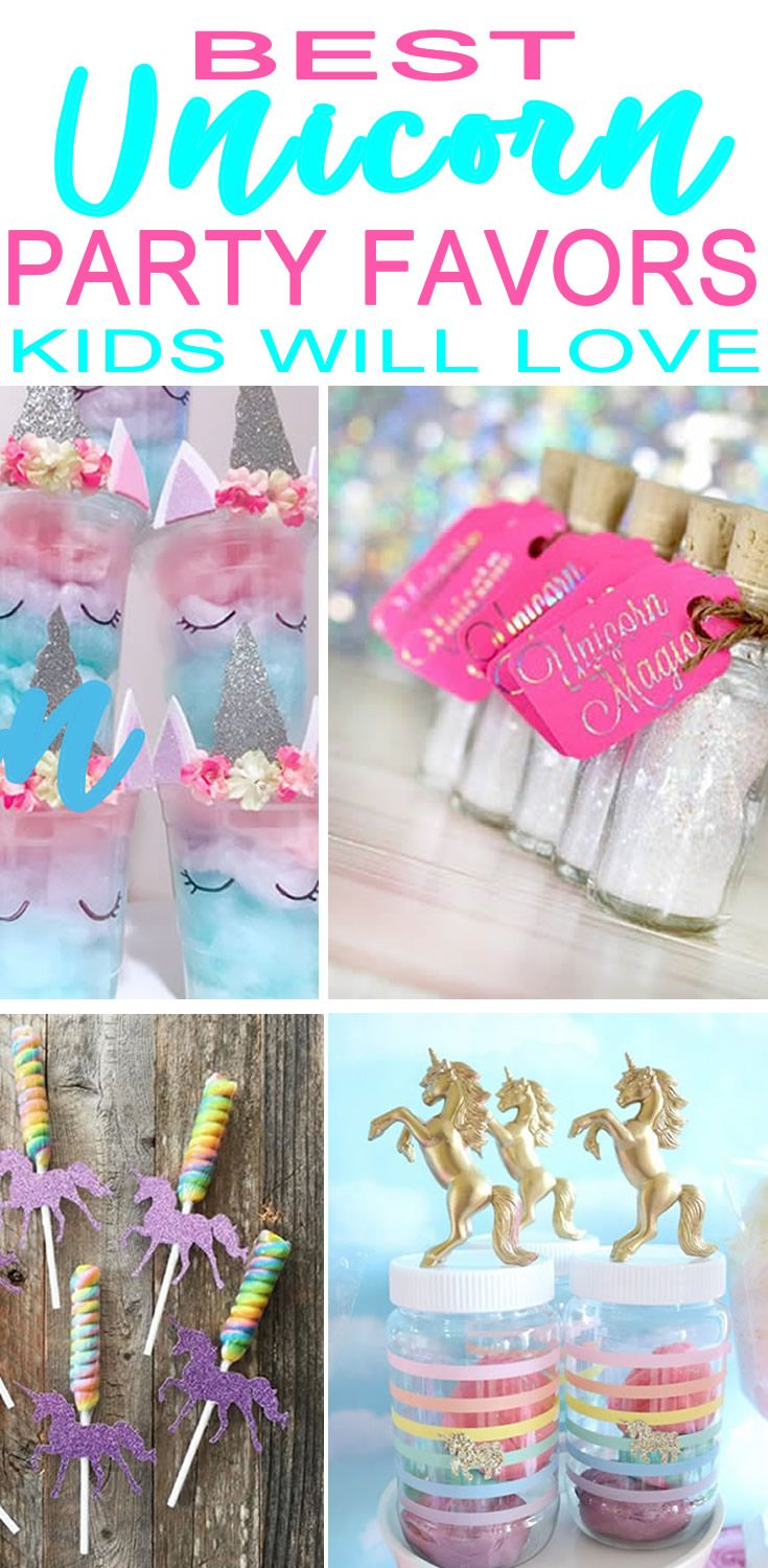 Find The Most Magical Unicorn Party Favor Ideas Best For A Theme Get Goo Bag Bags Candy