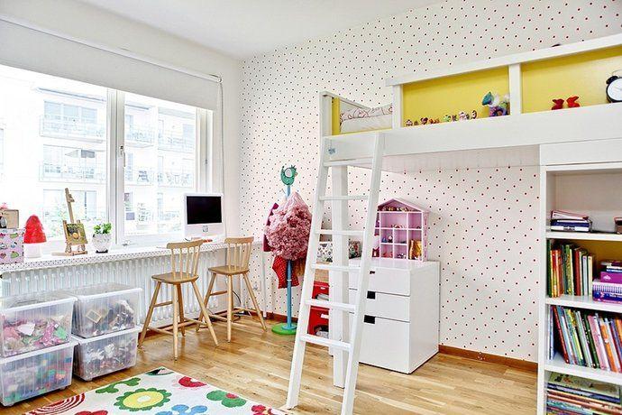 Photos, Kids Room, spotted, Wallpaper - Hemnet Inspiration