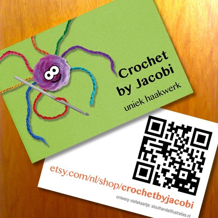 Business cards for Crochet by Jacobi. #stouthandel #businesscards #crocheting #crochetbyjacobi #crochet #spider