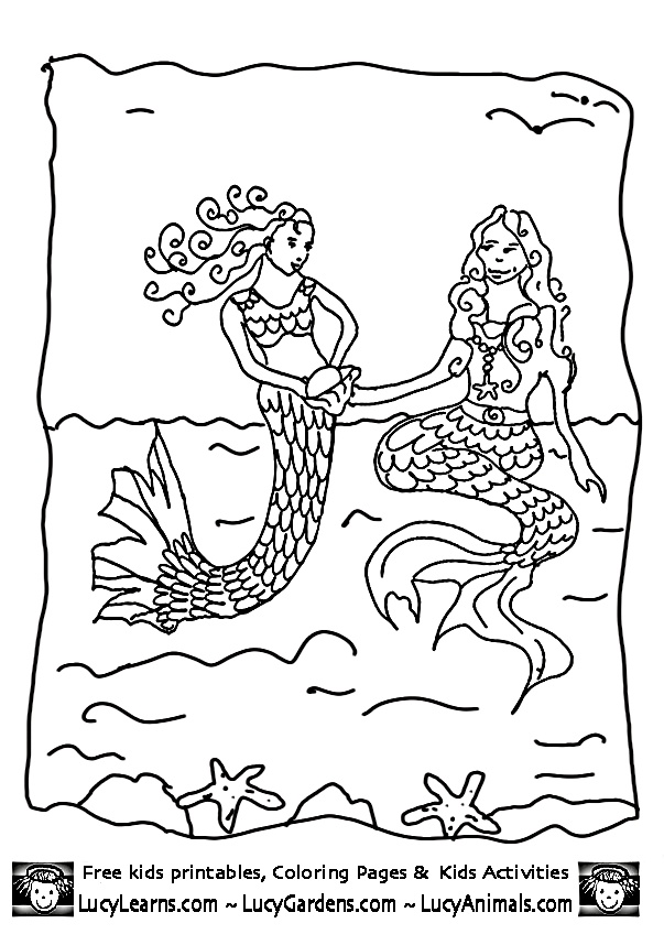little mermaid coloring pages playing with older sister mermaid picturecoloring pages mermaid 1