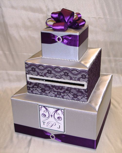 17 Best ideas about Wedding Card Boxes – Purple Wedding Card Box
