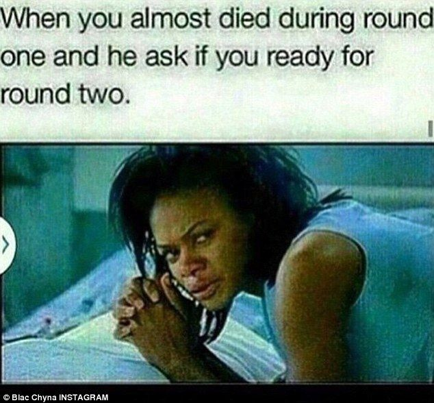 'Ready for round two': Blac Chyna also posted a meme that spoke a thousand words...