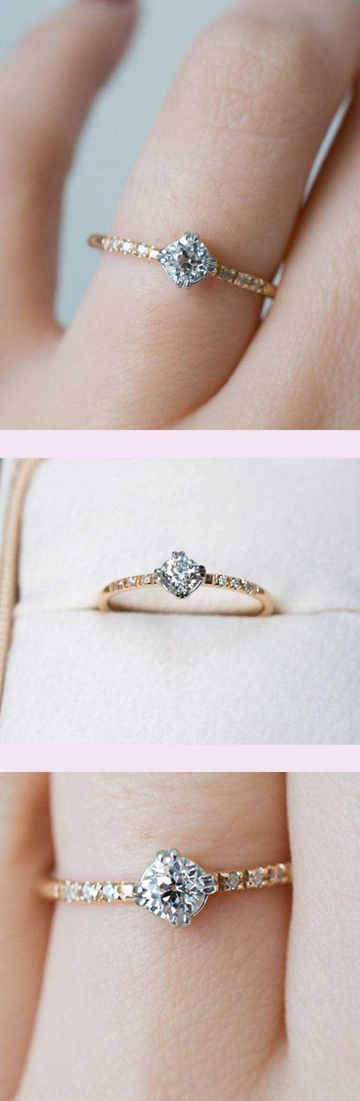 dainty engagement rings vintage style wedding rings The sweetest vintage diamond engagement ring by S Kind
