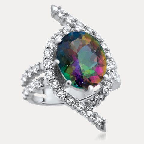925 Silver Ring with Mystic Quartz