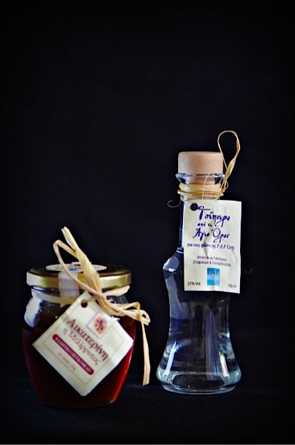 Greek honey & Greek Tsipouro from mt. Athos, Greece