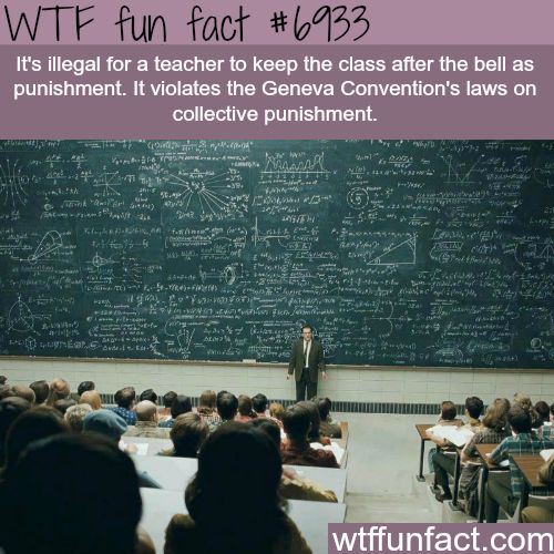 Teacher can't keep the class after the bell rings - WTF fun fact