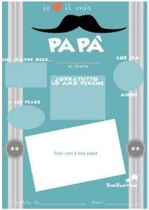festa papà biglietto auguri -Per la festa del papà regala questo biglietto di auguri da scaricare gratis e far compilare a tuo figlio. Un bellissimo ricordo per papà - BimBumMam