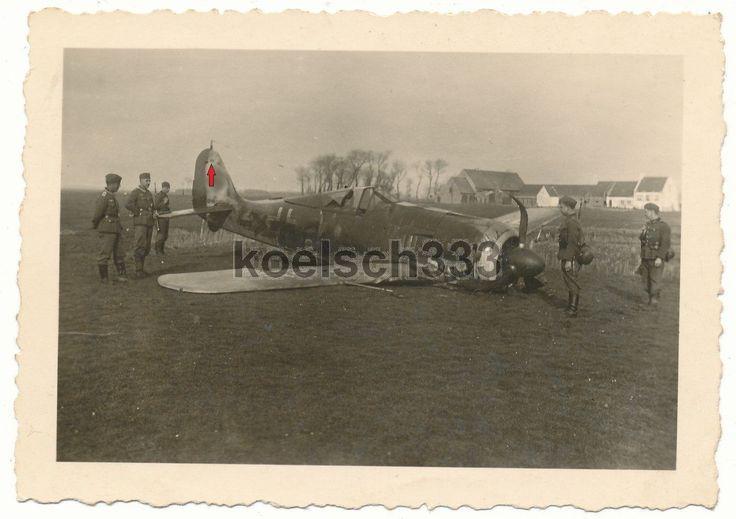 Foto Focke Wulf Fw 190 Flugzeug Notlandung Luftwaffe Werknummer 1094 (!?) ... in Sammeln & Seltenes, Militaria, 1918-1945 | eBay
