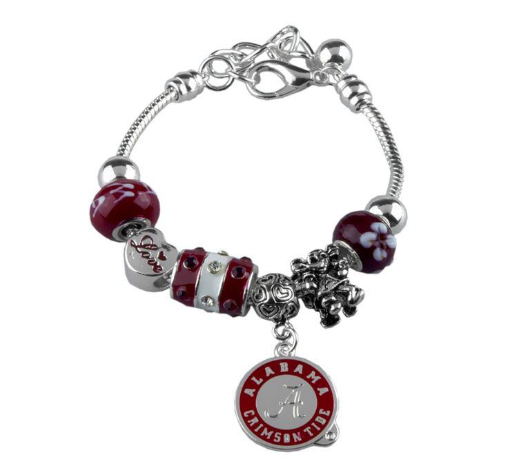 Alabama Charm Bracelet: University Of Alabama Crimson Tide Love Charm Bracelet
