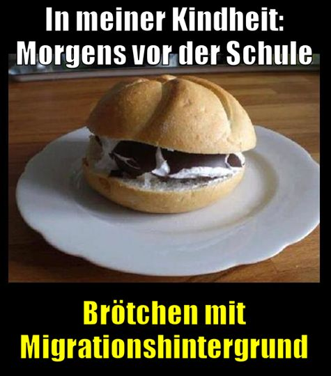 Broetchen mit Mohrenkopf ....... soooooo lecker !