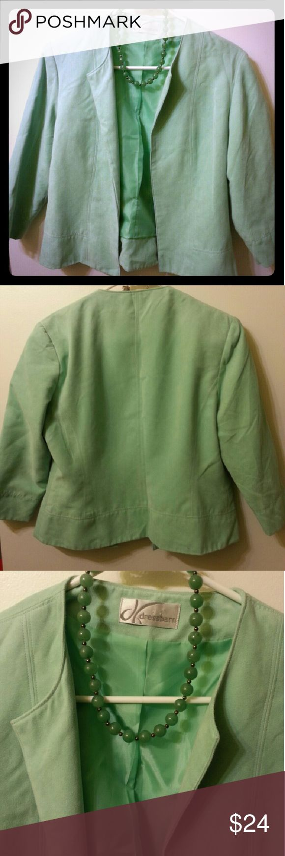 Dress Barn Mint Green Blazer Dress Barn mint green blazer size medium. Soft material. NWOT. Dress Barn Jackets & Coats Blazers