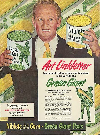 0 Art Linkletter for Green Giant Peas and Niblets Corn ad 1950