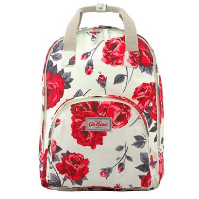 """Ardingly Rose Multipocket Backpack   You love our backpacks, so we've created more! This best-selling style comes in our Ardingly Rose print, with adjustable back straps and two main compartments inside, one padded and roomy enough for a 13"""" laptop. Perfect for tackling life hands-free.   Cath Kidston  """