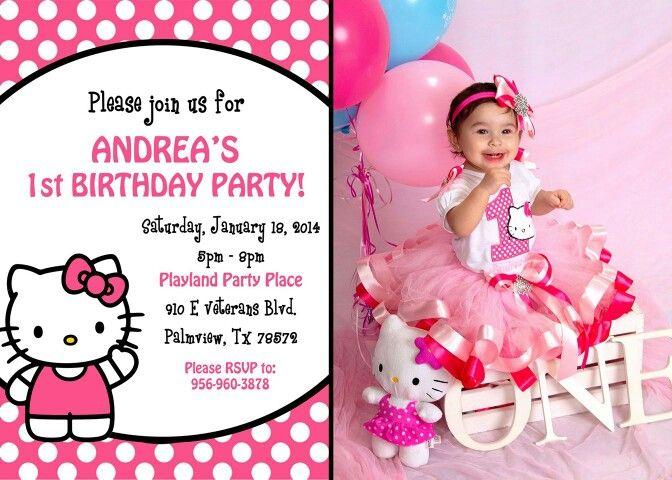 Hello Kitty Invitation