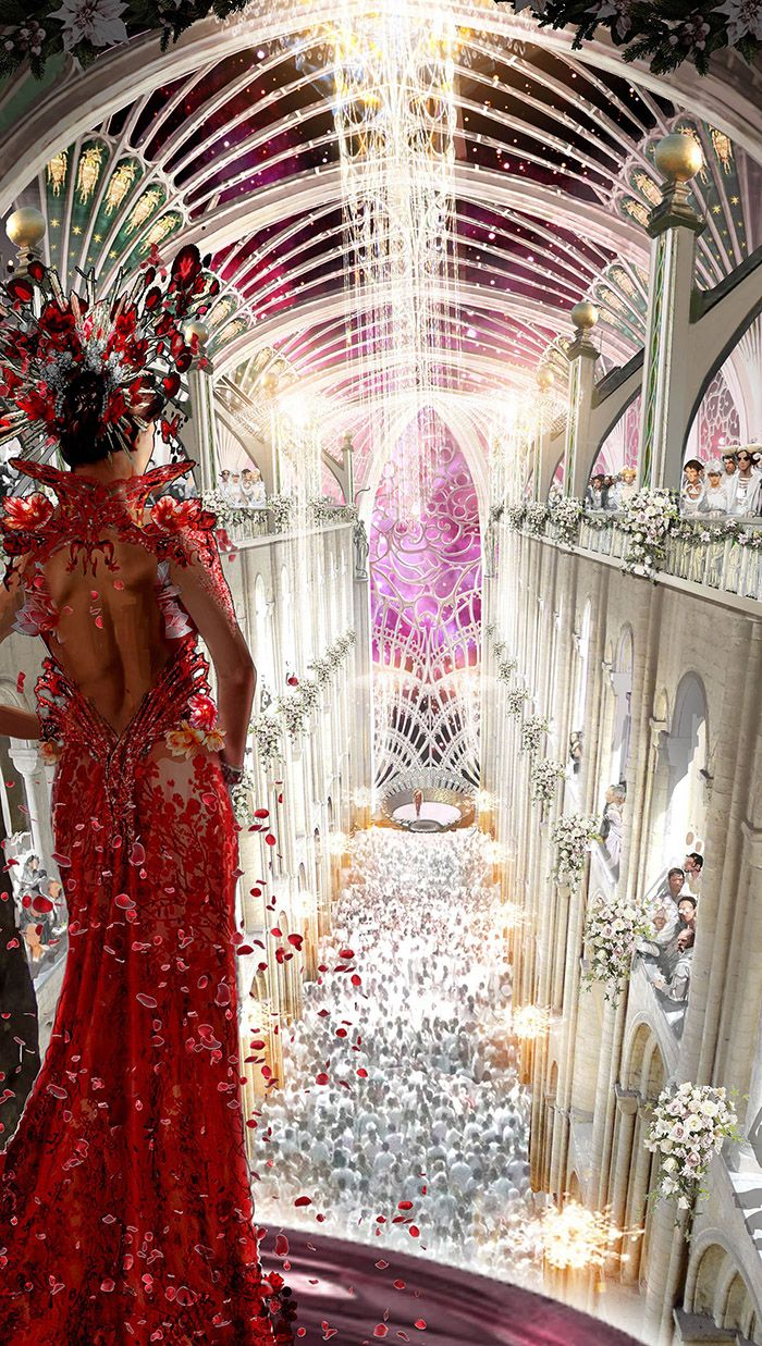 The Wedding - Original concept art for the wedding scene. - Jupiter Ascending – Official Look Book