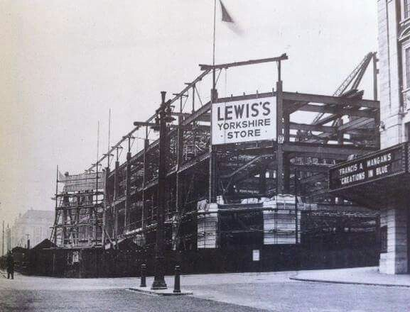 Construction of Lewis's Store, Leeds, West Yorkshire, England - 1932