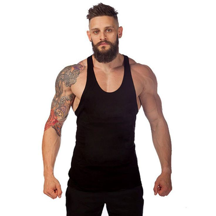 Solid Tank Top Men Gyms Clothing Mens Bodybuilding Clothes Fitness Singlets Men Sleeveless Body Engineers Cotton Gyms Vest Tops