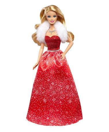 Look what I found on #zulily! Barbie 2014 Holiday Doll by Barbie #zulilyfinds