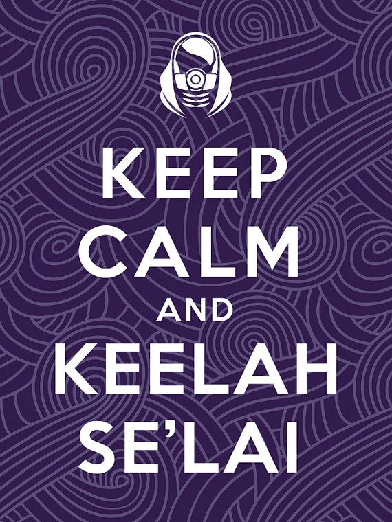 Mass Effect Bioware Tali Quarian Keep Calm Video by jefflangevin, $10.00