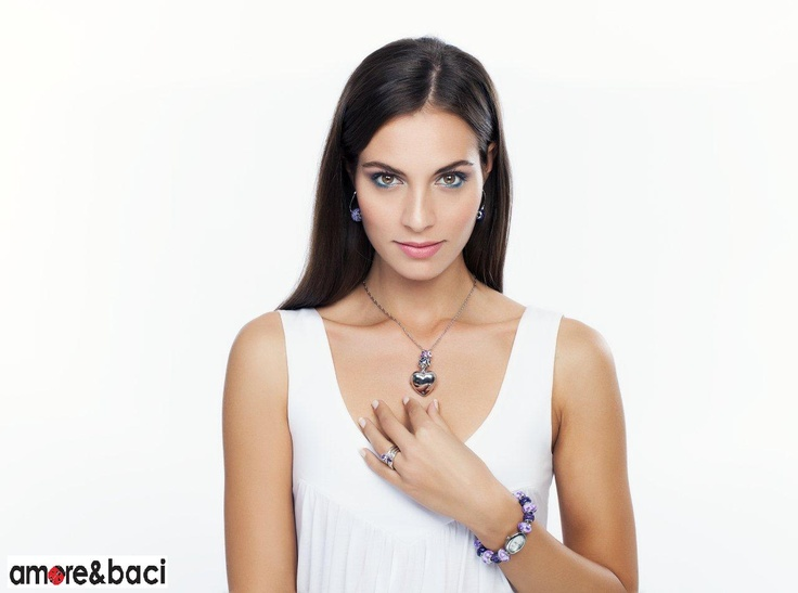 Amore & Baci 2013 campaign - PURPLE beads - necklace, watch, earrings, rings