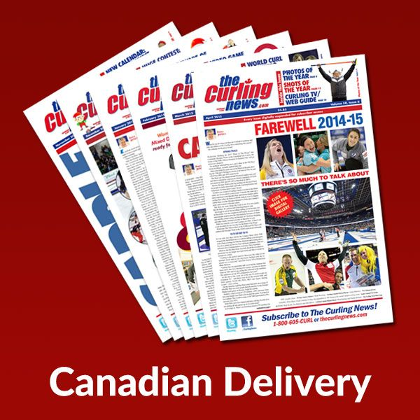 Subscription to The Curling News for Canadian Delivery for 1-year
