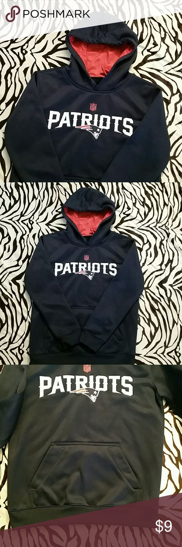 Boys NFL Patriots Hoodie NFL New England Patriots football Hoodie for boys. Some wear on it but overall good condition for the Patriot fans. NFL Team Apparel Shirts & Tops Sweatshirts & Hoodies